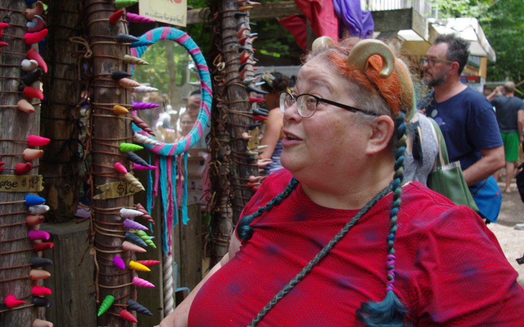 Cindy and the Fantasy Horns Booth at OCF